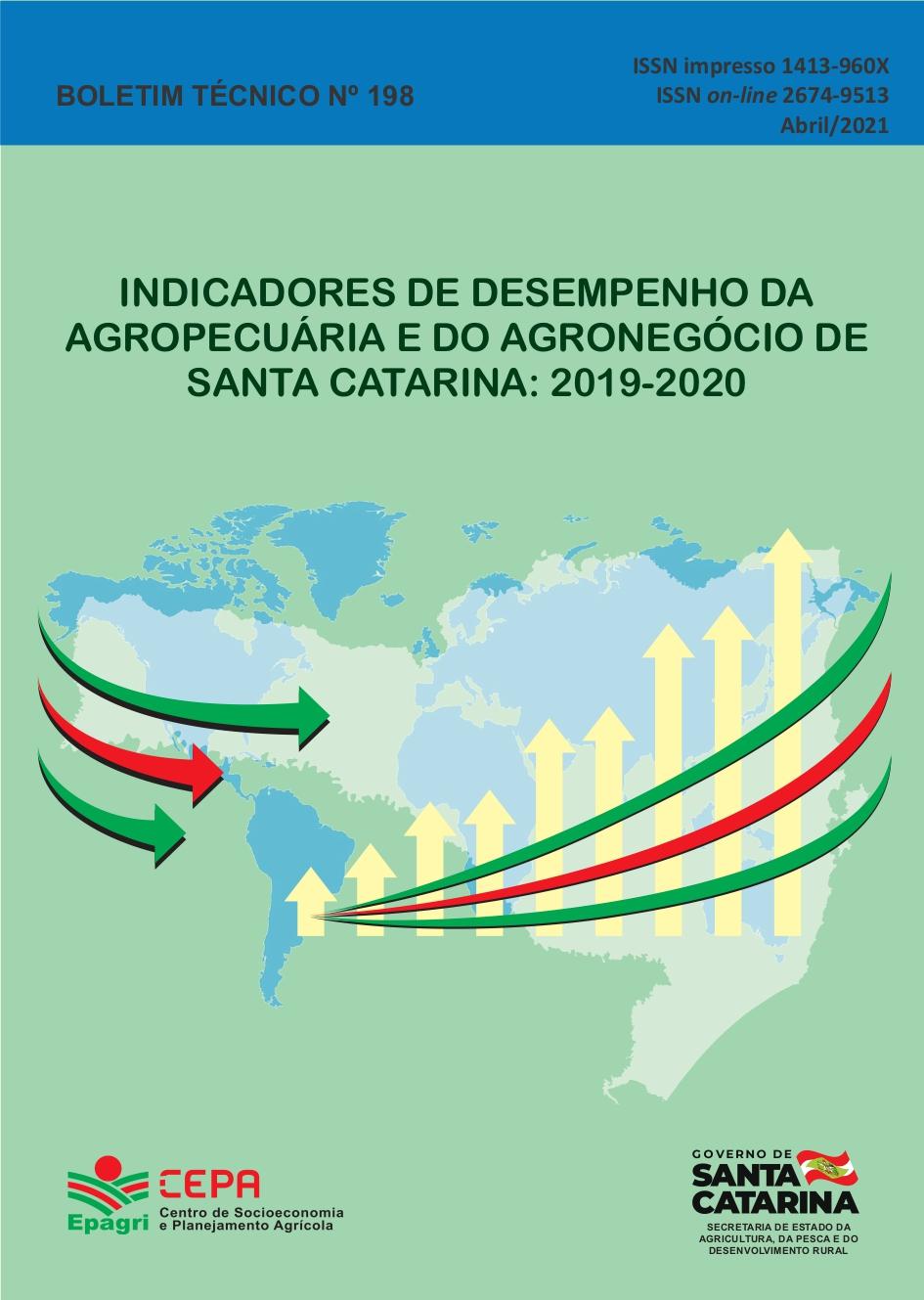 Visualizar n. 198 (2021): Indicadores de desempenho da agropecuária e do agronegócio de Santa Catarina: 2019 e 2020