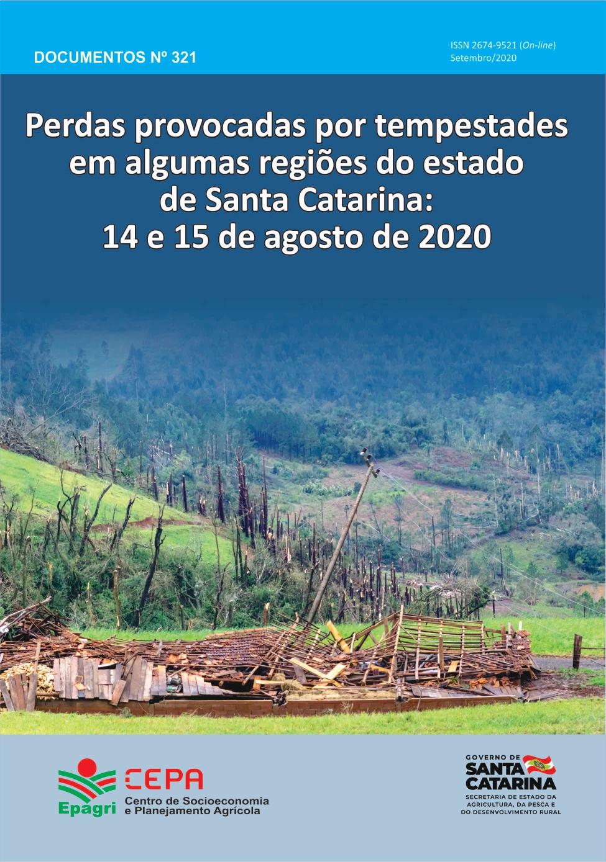 Visualizar n. 321 (2020): Perdas provocados pelo tornado em algumas regiões do estado de Santa Catarina: 14 e 15 de agosto de 2020