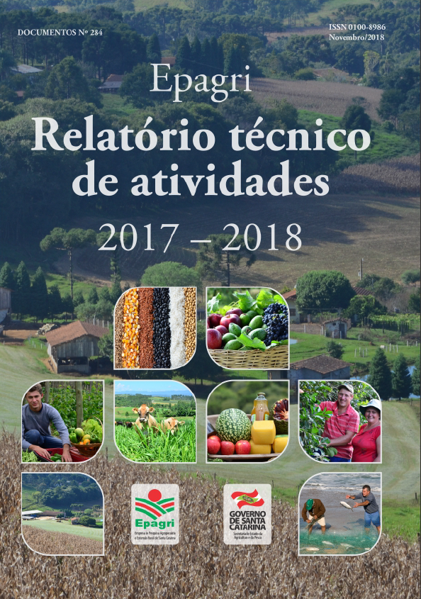 Visualizar Relatório técnico de atividades 2017-2018: Epagri